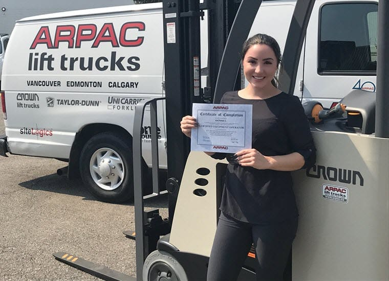 Women with Forklift Certification