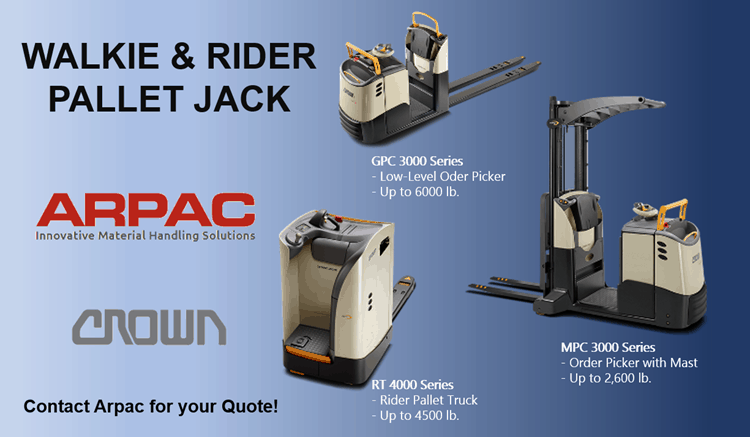 walkie and rider pallet jacks