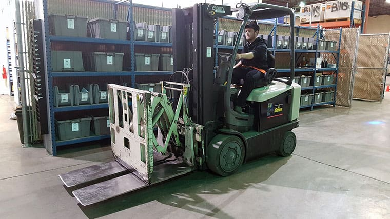Forklift training instructor onsite