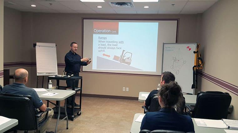 Forklift training classroom
