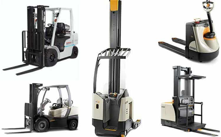 forklift collage
